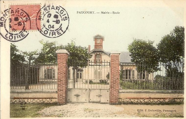 L'école de Paucourt au début du XXème siècle.
