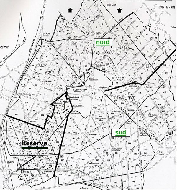 Carte de la Forêt de Montargis