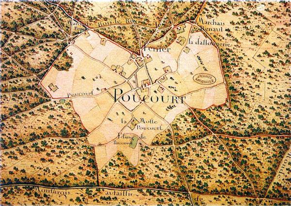 Carte royale de la Forêt de Montargis - la Clairière de Paucourt - début du XVIIIème siècle - Bibliothèque Nationale de France