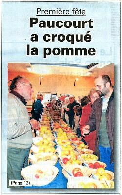 Paucourt à la une de l'Eclaireur-du-Gâtinais du 19.11.2009