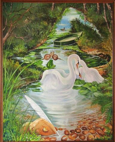 """""""L'Enchanteur"""" - Tableau de F. Delalande. Cliquez pour agrandir."""