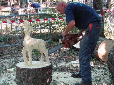 Sculpteur à la tronçonneuse - 2004