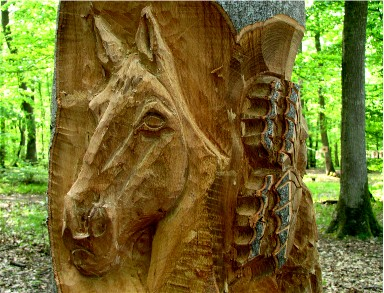 """""""Les Fées Papillons"""" - Détail : tête de cheval. Cliquez pour agrandir."""
