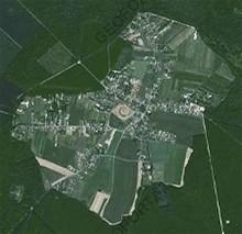 La Clairière de Paucourt, en plein coeur de la Forêt de Montargis, par Géo Portail