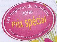 Trophées du tourisme 2008 - prix spécial décerné à la Maison de la Forêt de Paucourt