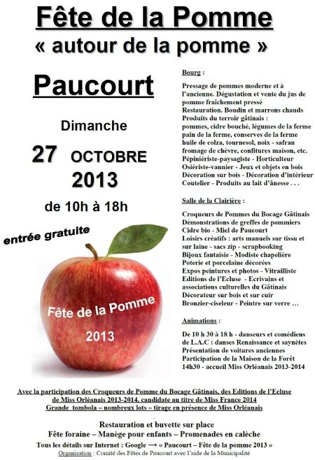 Affiche de la Fête de la Pomme 2013. Cliquez dessus pour l'agrandir au format .pdf.
