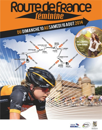 Affiche officielle de la Route Féminine de France 2014.