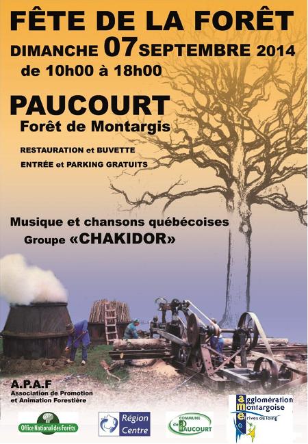Affiche de la Fête de la Forêt 2014.