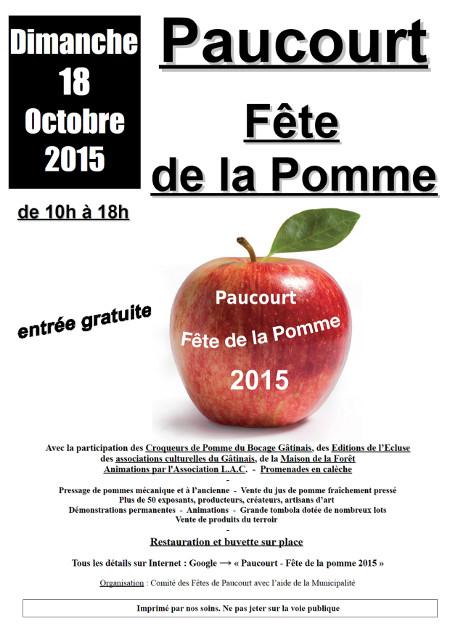 Flyer de la Fête de la Pomme 2015