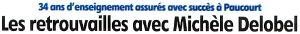"""Cliquez sur ce bandeau pour visualiser l'article de Fabrice Kocaj paru dans l'Eclaireur-du-Gâtinais du 11 Juillet 2013 sur la soirée """"départ à la retraite de Michèle Delobel"""" du 6 Juillet."""