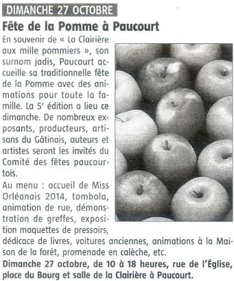 Article publié par l'Eclaireur-du-Gâtinais dans son édition du 24.10.2013.