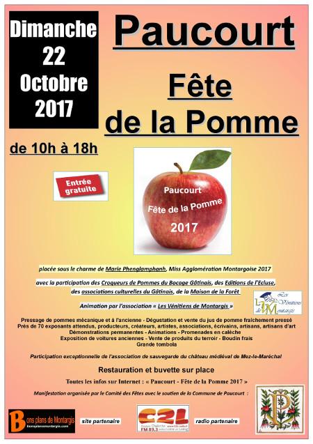Flyer de la Fête de la Pomme 2017
