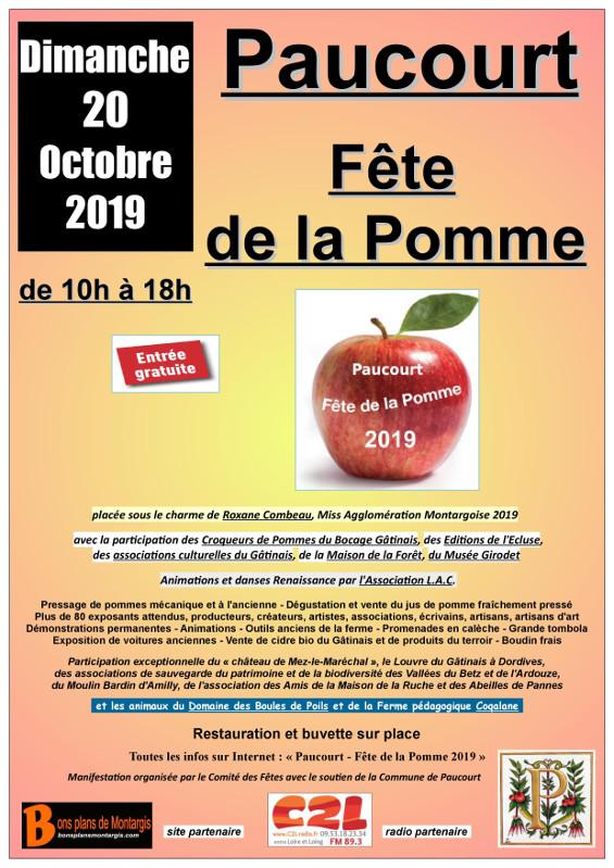 Flyer de la Fête de la Pomme 2019