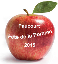 """Logo de la Fête de la Pomme 2015. Cliquez dessus pour accéder directement à ma page """" Paucourt - Fête de la Pomme 2015 """""""