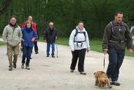 Encore un groupe de retour, sourire aux lèvres, après une belle balade matinale en forêt.