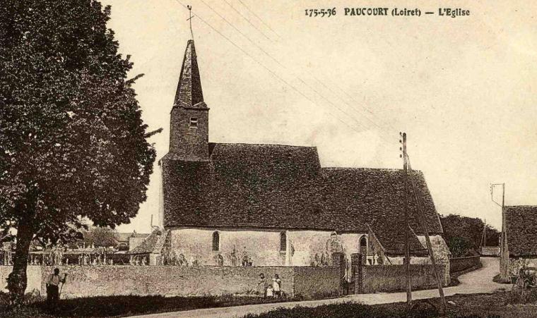 L'église de Paucourt à la fin des années 1930.