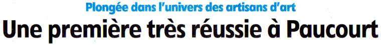 Cliquez ICI pour prendre connaissance de l'excellent article de Fabrice Kocaj publié par l'Eclaireur-du-Gâtinais dans son édition du 12.11.2014. Présentation de l'ensemble de nos exposants.