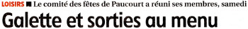 Cliquez ICI pour visualiser le 1er article publié par la République du Centre le 11.01.2017 annonçant la 7ème Fête de la Pomme de Paucourt