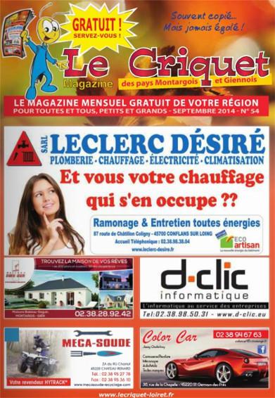 Cliquez sur cette image et vous n'aurez plus qu'à faire défiler les pages du Criquet Magazine de Septembre 2014 !