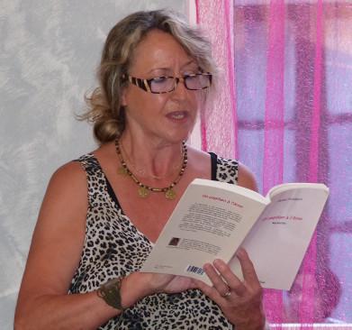 Salon de thé l'Aromatisé - Montargis - 20.06.2014 - Chantal Riout lit des extraits d'Un Papillon à l'âme