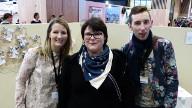 Avec Cindy et Lucien, autre candidat de l'émission.