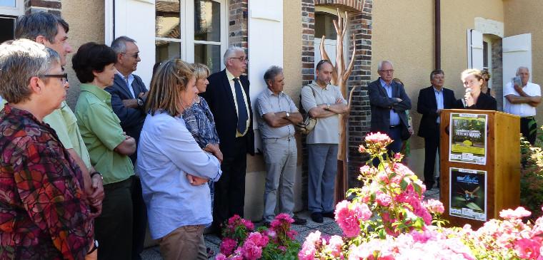 Inauguration des 10 ans de la Maison de la Forêt. Cliquez sur cette photo pour l'agrandir.