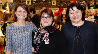 """Vanessa, en compagnie d'Isabelle et Edith, canditates de l'émission de M6, """"Cousu Main"""", saison 2. Edith a également participé aux deux spéciales le 24 et le 31 Décembre 2016"""