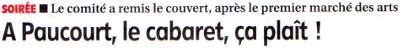 Cliquez sur le bandeau ci-dessus et visualisez l'article de Stéphane Jetten sur la Soirée Cabaret du 15 Novembre à Paucourt publié par la République-du-Centre dans son édition du 18 Novembre 2014