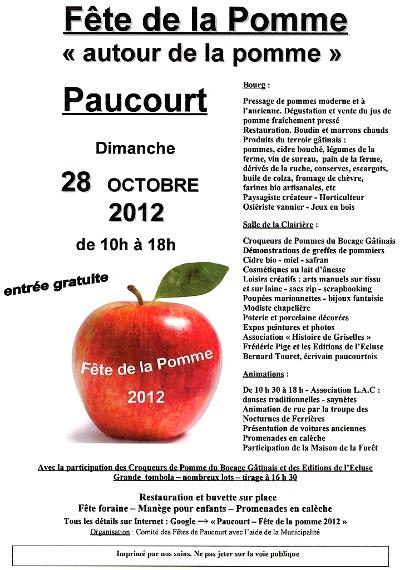 Affiche de la Fête de la Pomme 2012. Cliquez dessus pour l'agrandir.