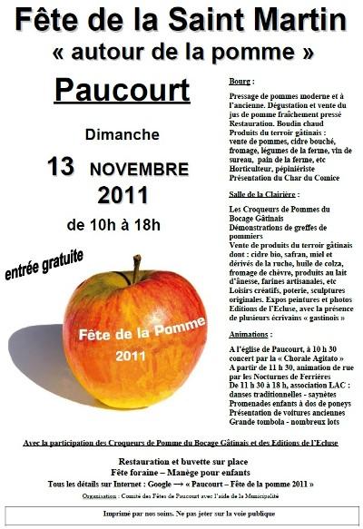 Affiche de la Fête de la Pomme 2011