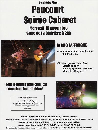 Visualisez, téléchargez et imprimez cette affiche au format .pdf. Toutes les infos sur la soirée Cabaret.