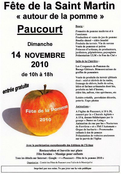 Affiche de la Fête de la Pomme 2010. Cliquez pour agrandir