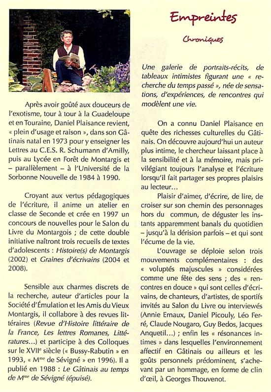 """Le parcours de Daniel Plaisance - Présentation de son nouvel ouvrage """"Empreintes - Chroniques"""""""