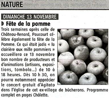 Un 1er article en page 13 de l'Eclaireur-du-Gâtinais du 10.11.2011