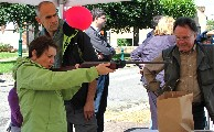 L'épreuve du tir à la carabine. Comité des Fêtes.