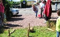 Le jeu des quilles bretonnes.