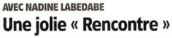 """"""" Rencontres improbables """" - Exposition Nadine Labedade - Foyer de la Salle des Fêtes de Montargis du 2 au 18 Décembre 2011 - Cliquez ICI pour prendre connaissance de l'article de l'Eclaireur-du-Gâtinais du 08.12.2011."""