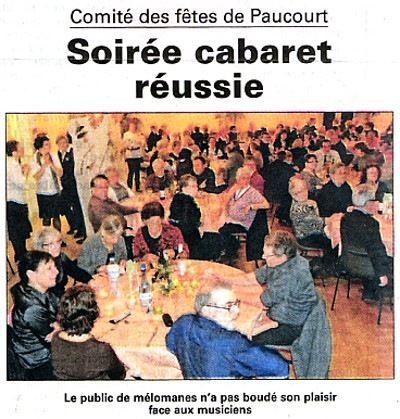 Cliquez ICI pour visualiser l'intégralité de l'article publié par l'Eclaireur-du-Gâtinais dans son édition du 25.11.2010