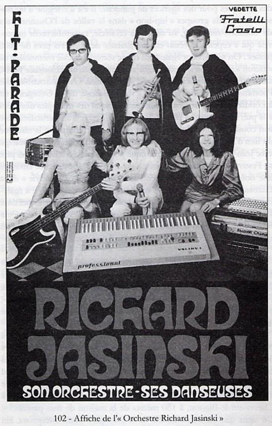 Affiche de l'Orchestre Richard Jasinski, datant de 1971